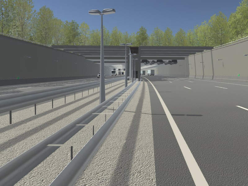 The new road will also include a 950m-long immersed tunnel and a 550m-long land tunnel. Image courtesy of Blankenburgverbinding.