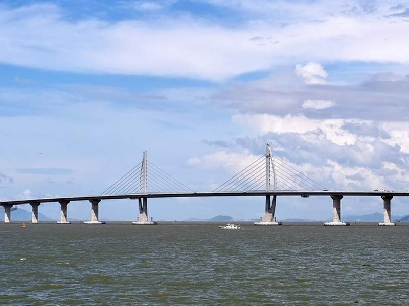 Hong Kong-Zhuhai-Macau Bridge was inaugurated in October 2018. Image courtesy of NCN Ltd.