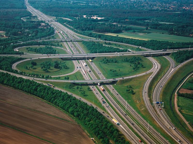 A27 and A1 motorways play a key role in the road transportation network of the Netherlands. Image courtesy of Heijmans.