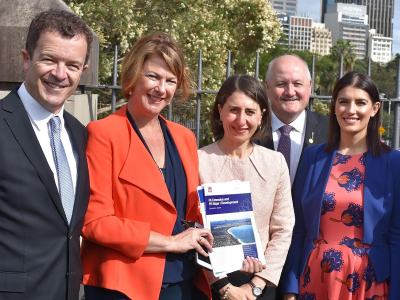 The F6 Extension stage one will mainly link the New M5 Motorway with President Avenue at Kogarah. Image courtesy of NSW LIBERALS.