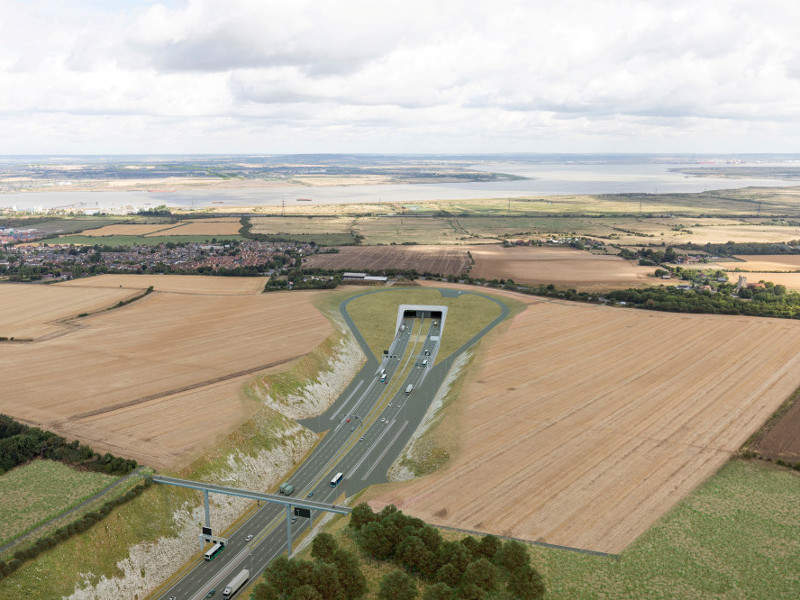 The Lower Thames Crossing will be a 23km-long new motorway connecting Kent, Thurrock, and Essex. Image courtesy of COWI.