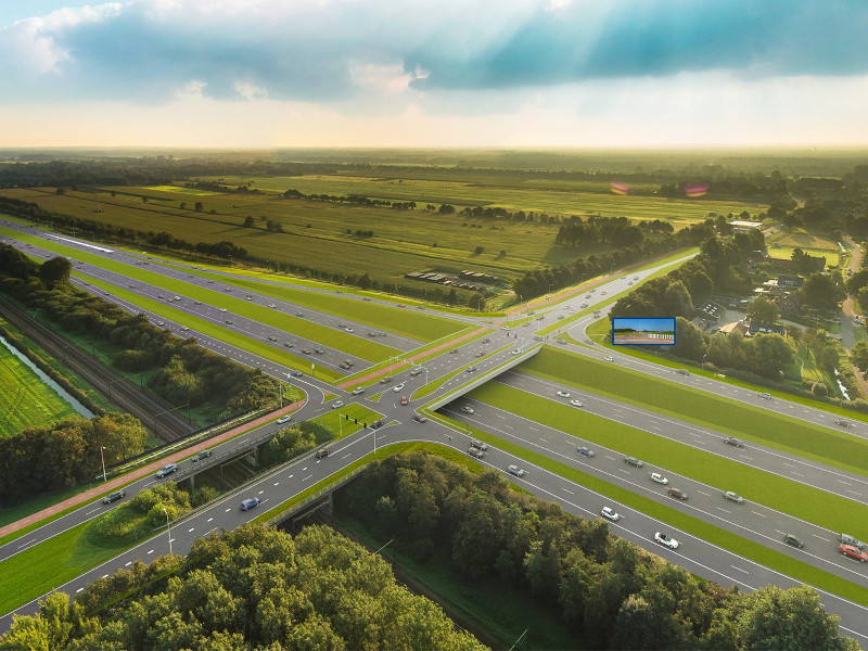 The A27/A1 motorway upgrade project opened for traffic in November 2018. Image courtesy of Heijmans.