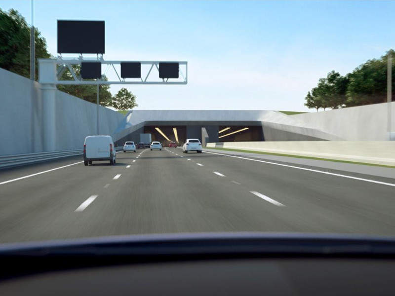The Lower Thames Crossing will also include a 4km-long twin-tube tunnel under river Thames. Image courtesy of COWI.