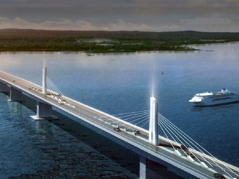 The Panguil Bay bridge is a 3.7km-long two-lane bridge under construction between Tangub and Tubod cities in Philippines. Image courtesy of Department of Public Works and Highways.