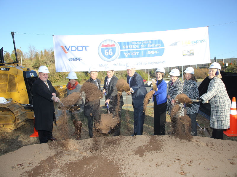 Ground-breaking ceremony for the improvements project was held in November 2017. Image courtesy of Virginia Department of Transportation.