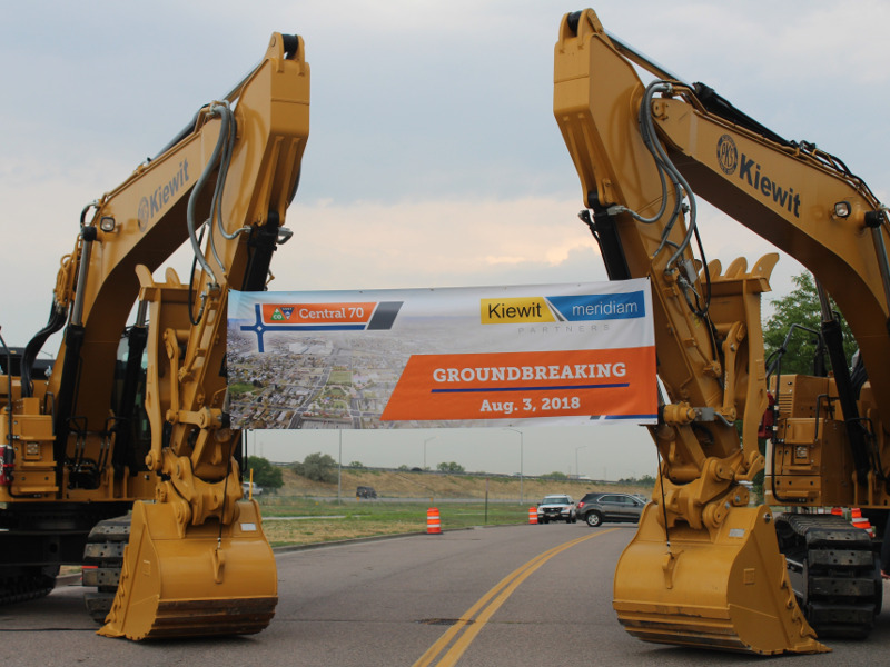Ground-breaking ceremony of the Central 70 project was held in August 2018. Image courtesy of Colorado Department of Transportation.