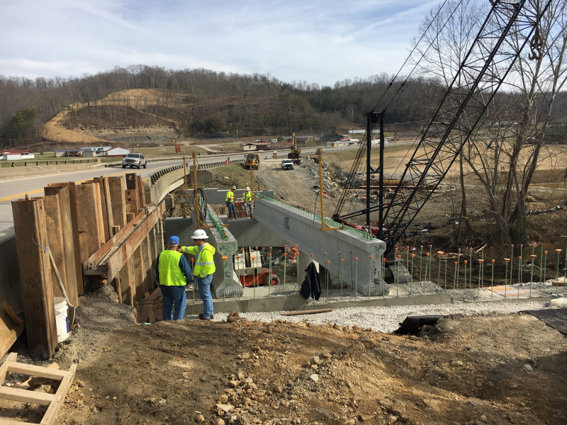 Construction works of the project were begun in October 2014. Image courtesy of Kentucky Transportation Cabinet.