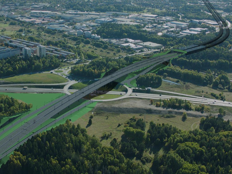 E4 The Stockholm Bypass is expected to be completed in 2026. Image courtesy of Implenia AG.