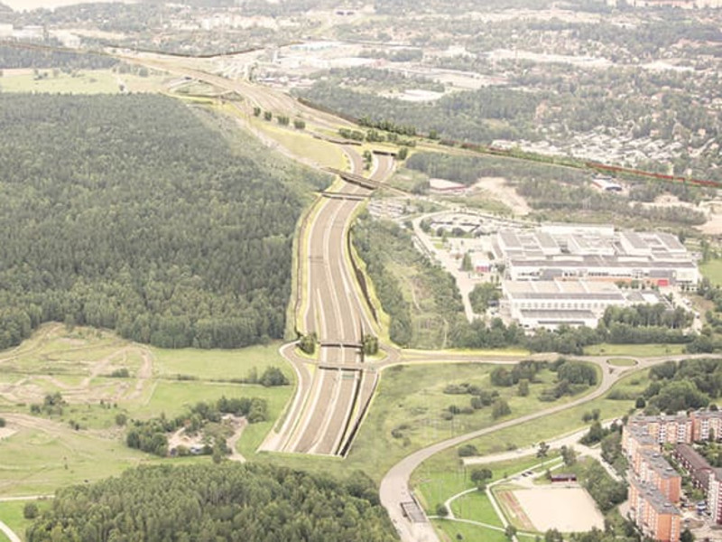 More than 18km of the new bypass will pass through tunnel sections. Image courtesy of Trafikverket.