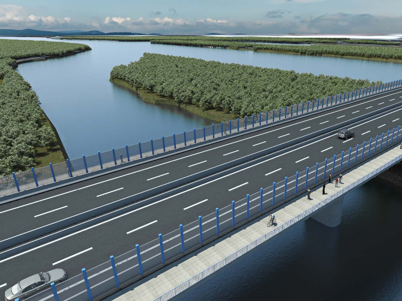 Bratislava Bypass will increase transport capacity and local connectivity in Bratislava. Image courtesy of D4R7 Construction s.r.o.