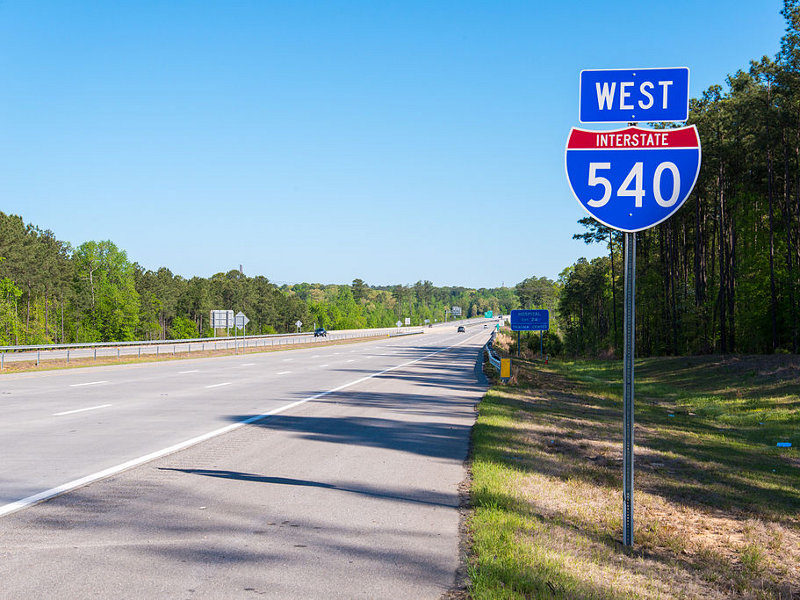 The Complete 540 project is a 45.8km extension of Triangle Expressway in North Carolina, US. Image courtesy of Washuotaku.