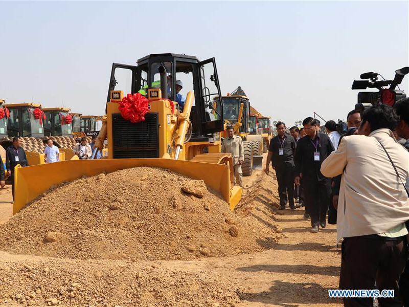 Phnom Penh-Sihanoukville expressway is the first expressway being built in Cambodia. Image courtesy of Xinhua.