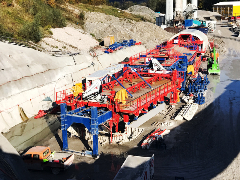 Tunnel Oberau is a twin-bore tunnel being built in Germany. Image courtesy of KERN Tunneltechnik SA.