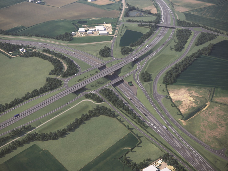 The A428 road project will upgrade the Black Cat and Caxton Gibbet roundabouts in Bedfordshire and Cambridgeshire.
