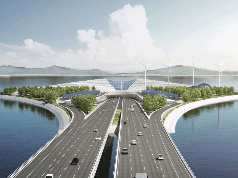 The link will have four traffic lanes on each side. Image courtesy of DISSING+WEITLING architecture.