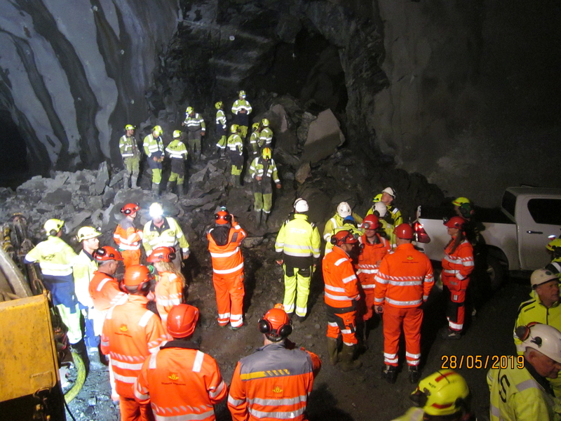 The E39 Rogfast tunnel achieved its first breakthrough in June 2019. Credit: NCC.