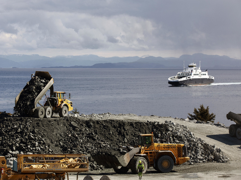The tunnel will have a maximum depth of 392m below sea level. Credit: Volvo.