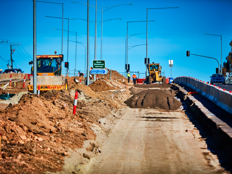 The Plenty Road project will provide a smooth flow of traffic and reduce congestion. Credit: Victoria State Government.