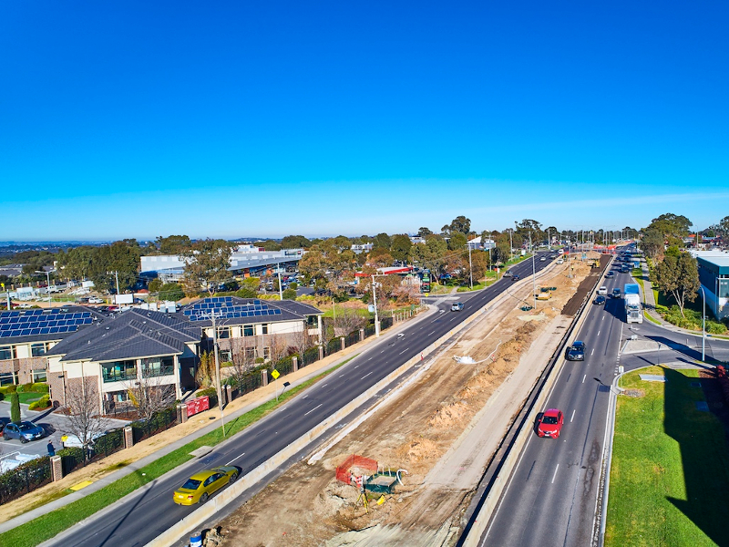 The first stage of the Plenty Road upgrade was completed in 2019. Credit: Victoria State Government.
