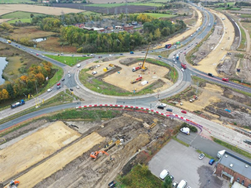 The A19 Testo's improvement scheme is a significant part of the five-year £15bn investment of Highways England in road enhancements. Credit: Crown copyright.