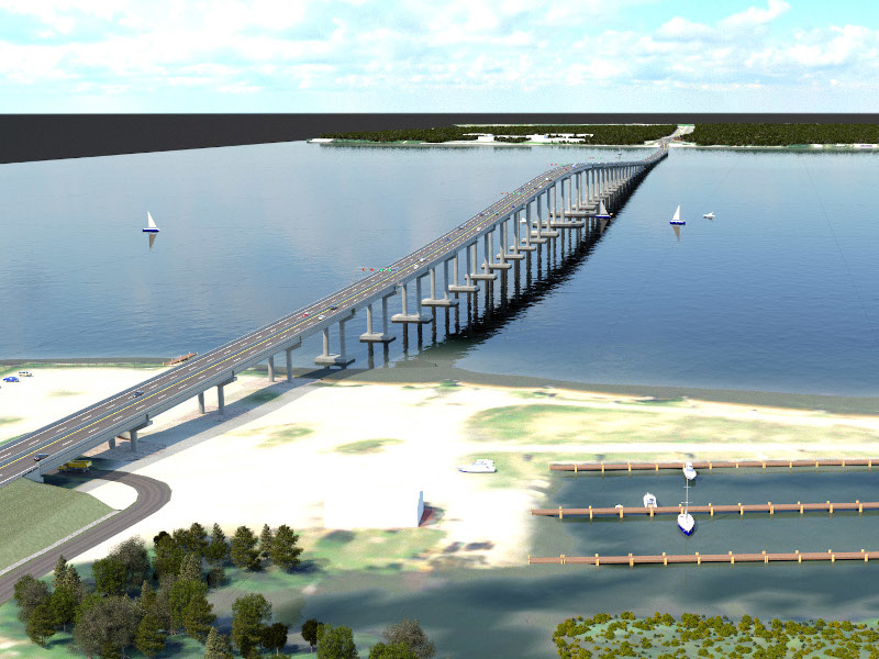 "The New Nice Middleton Bridge will replace the Governor Harry W Nice Memorial / Senator Thomas ""Mac"" Middleton Bridge on the Potomac River between Maryland and Virginia. Credit: Skanska."