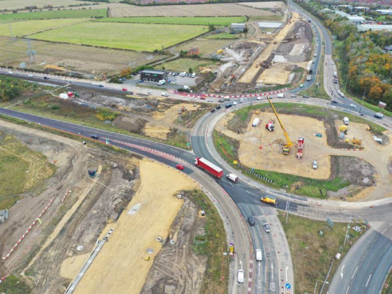 The improvement scheme aims to improve safety and create a free flow of traffic between the A19 and the nearby road network. Credit: Crown copyright.