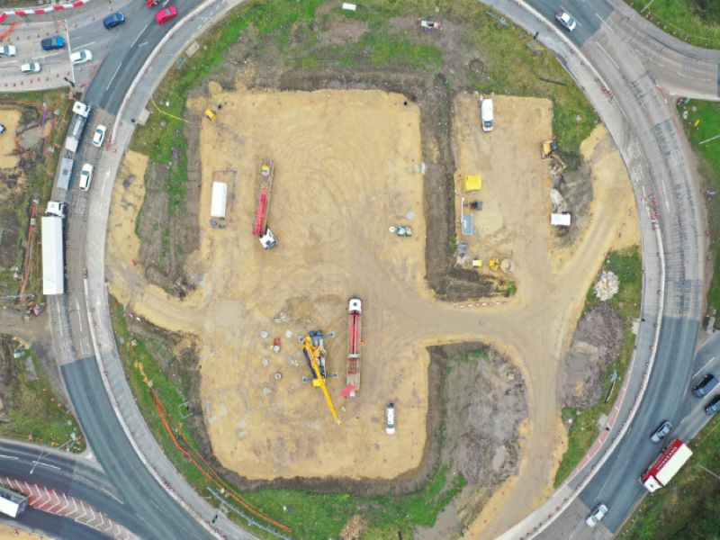 A new link road from Downhill Lane to Testo's roundabout was completed in 2019. Credit: Crown copyright.