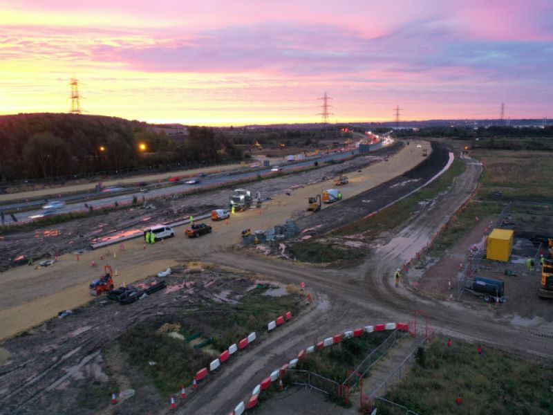 Works on the project began in March 2019. Credit: Crown copyright.