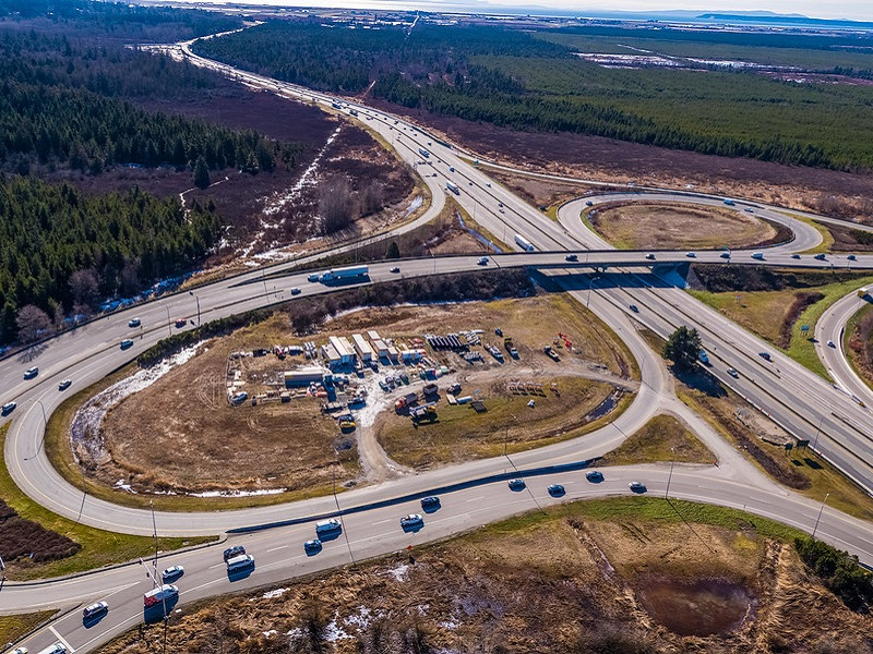 The upgrade project will improve commercial travel and reduce traffic congestion. Credit: B.C. Ministry of Transportation and Infrastructure.