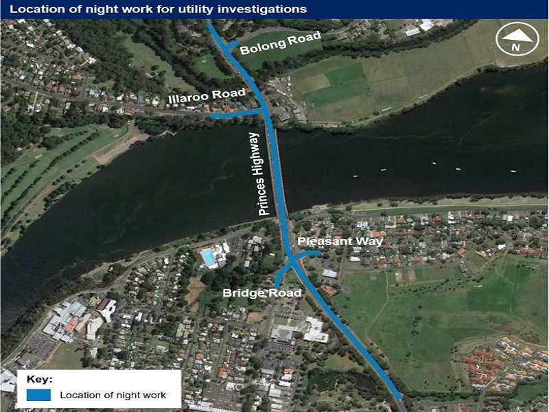 The objective of the Nowra Bridge construction is to improve the flow of traffic and reduce congestion. Credit: Roads and Maritime Services.