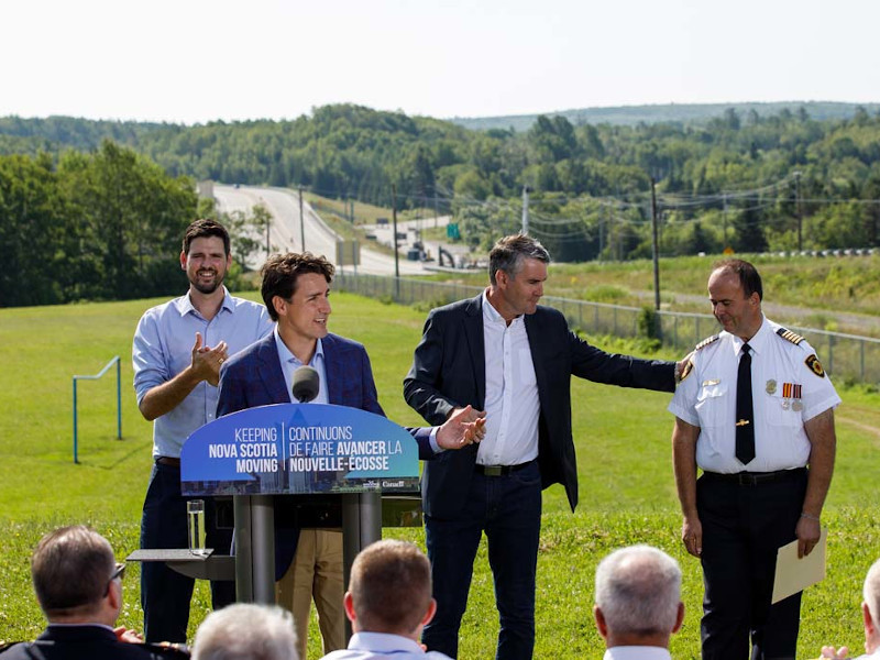The Canadian Government announced funding support for the Highway 104 twinning project in July 2018. Credit: Adam Scotti (PMO).