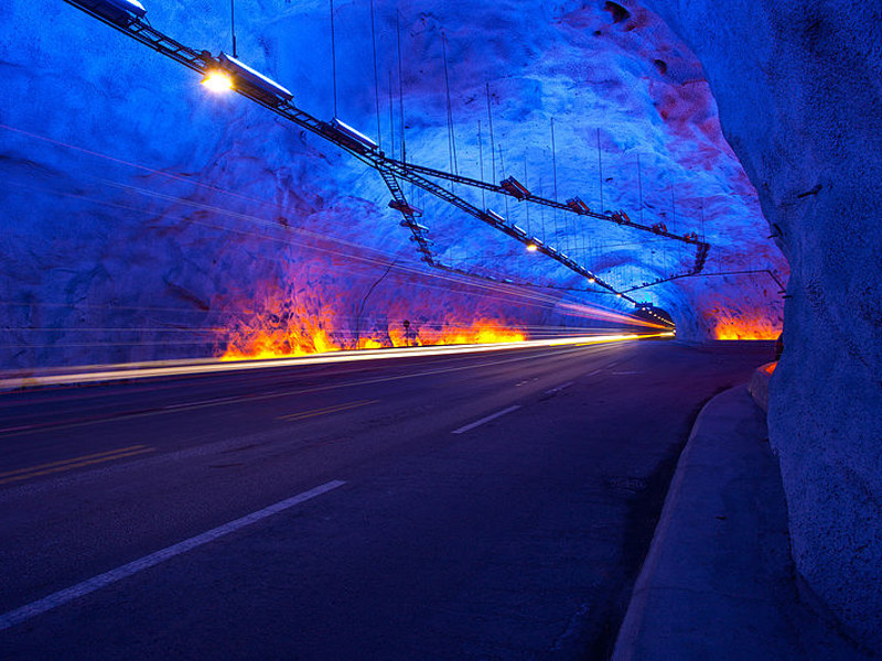 The Laerdal tunnel was opened in 2000. Image courtesy of Svein-Magne Tunli.