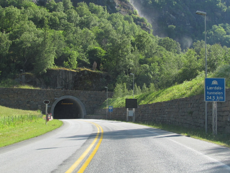 The tunnel is the longest road tunnel in the world. Image courtesy of European Roads.