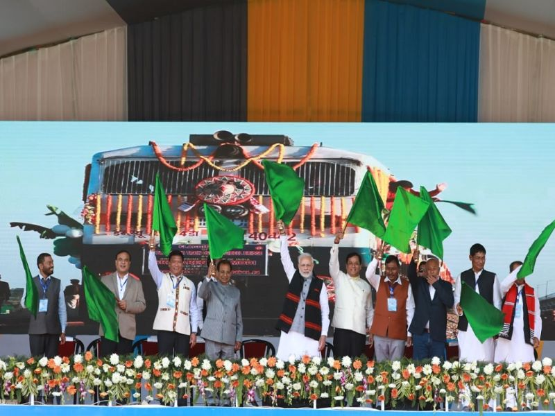 The Bogibeel Rail-Road Bridge was inaugurated on 25 December 2018. Image courtesy of Chief Minister of Assam.