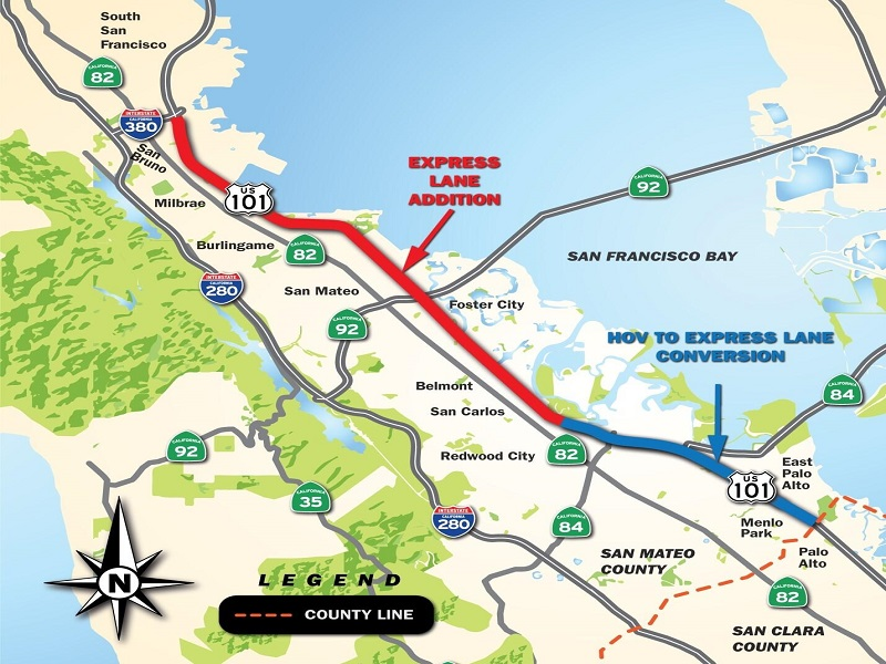 San Mateo 101 Express Lanes Project