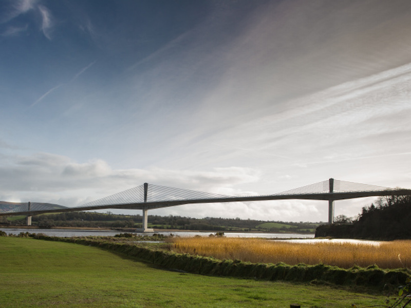 The N25 New Ross Bypass project includes 887m-long Rose Fitzgerald Kennedy Bridge. Credit: Royal BAM Group nv.
