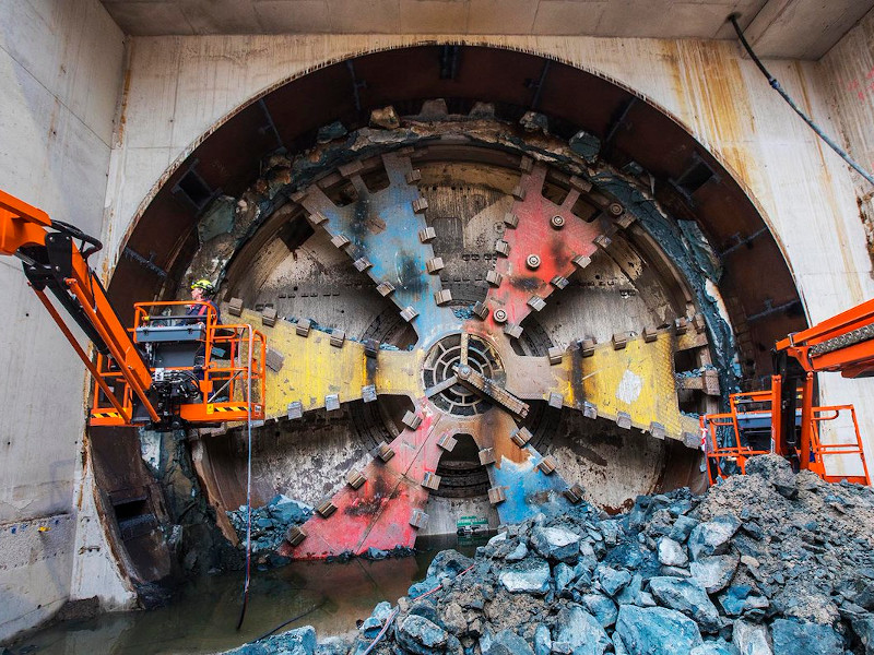 The project includes the 1.6km-long Victory Boogie Woogie tunnel. Credit: BAM Infra bv.