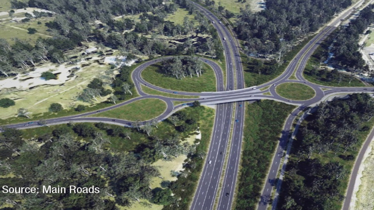 Bunbury outer ring road is a proposed 27km-long highway being developed to link Forrest Highway and Bussell Highway. Credit: NRW Holdings.