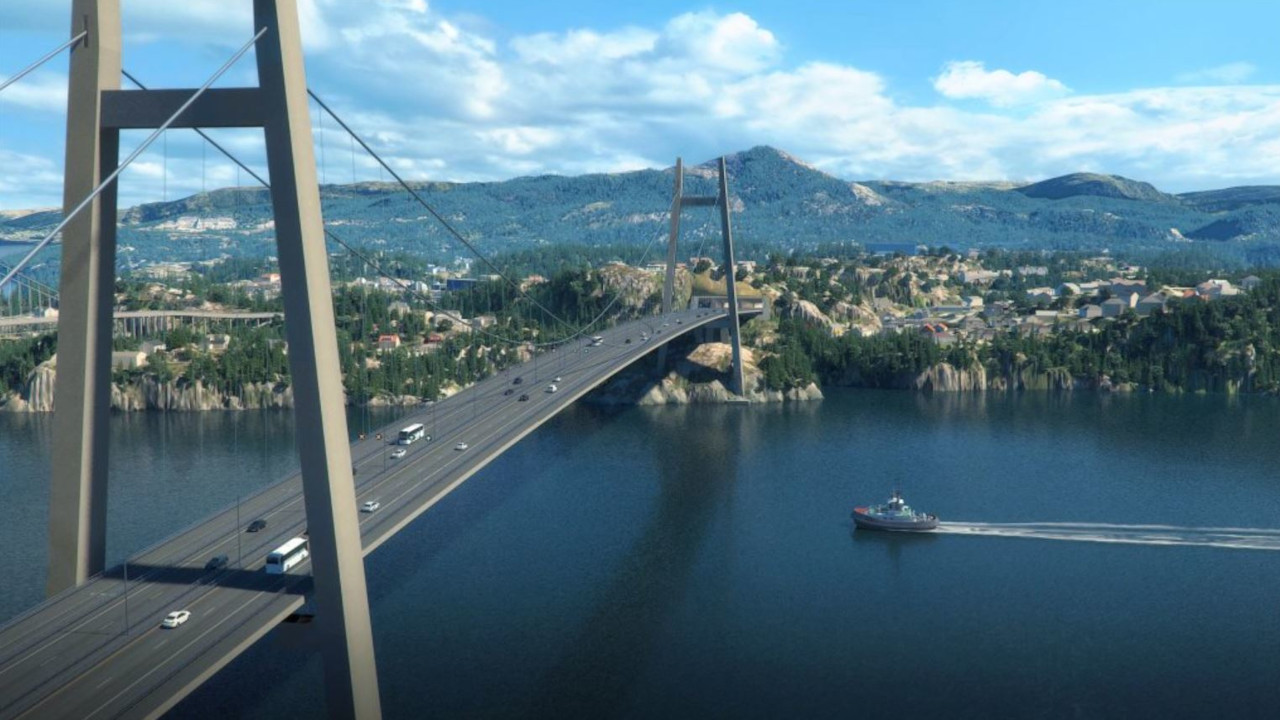 The Sotra Connection will include a 954m-long four-lane Sotra suspension bridge. Credit: The Norwegian Public Roads Administration.