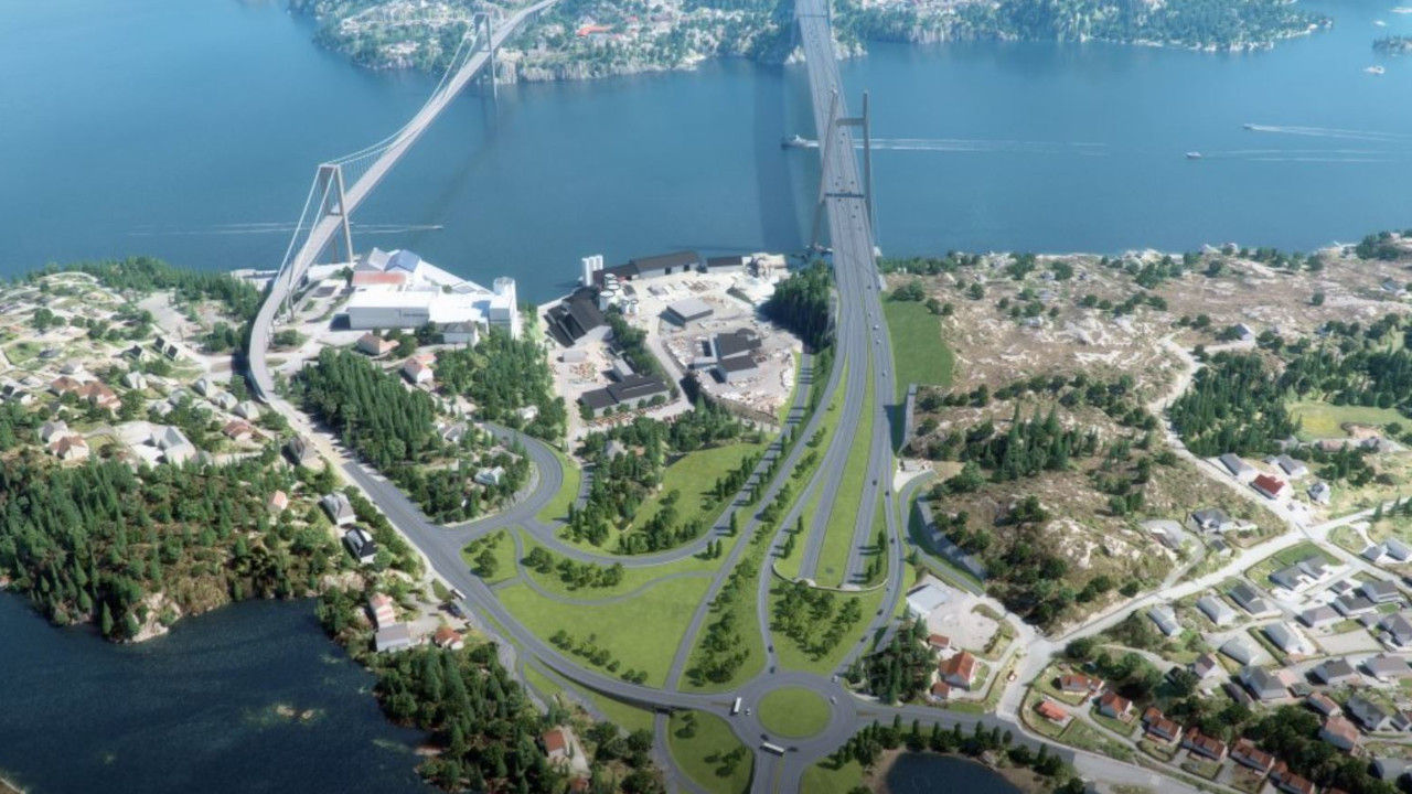 Rv 555 Sotrasambandet road network will connect Berge and the Sotra island. Credit: The Norwegian Public Roads Administration.