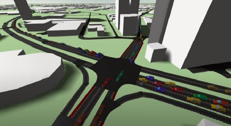 AI-controlled road junctions