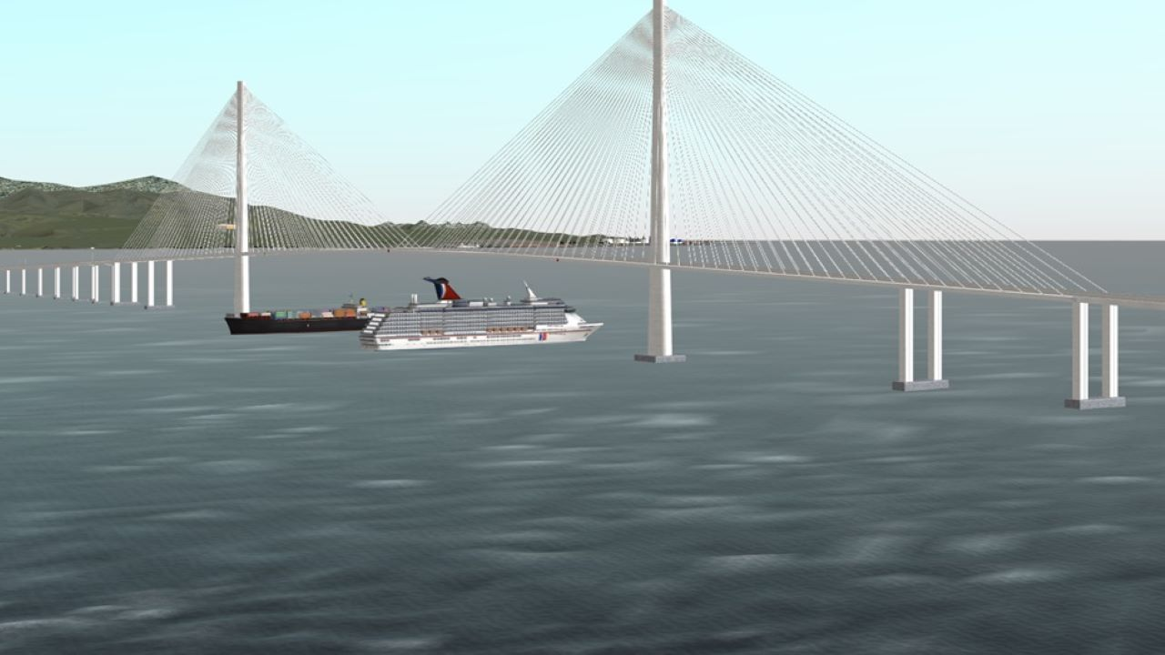 The bridge project is expected to be completed in January 2022. Credit: Maritime Academy of Asia and the Pacific.