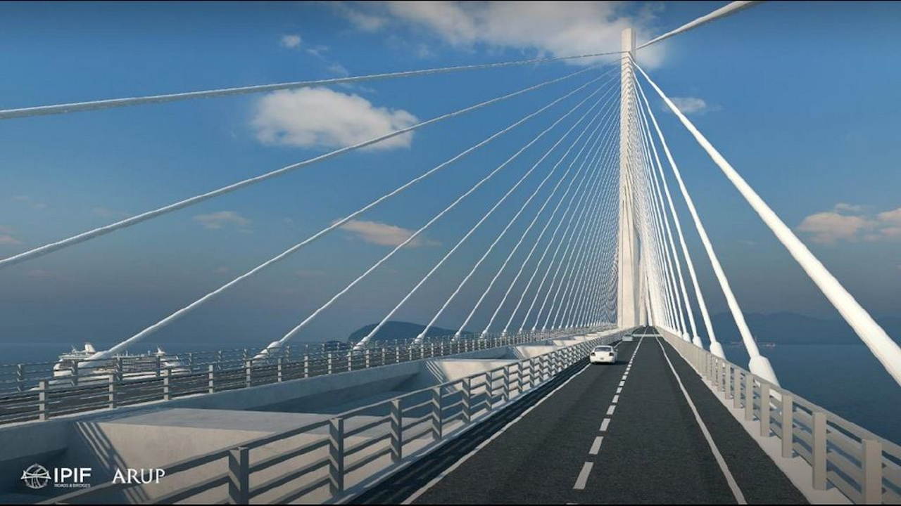 The bridge will reduce travel time from Bataan to Cavite from five hours to just 40 minutes. Credit: DPWH.