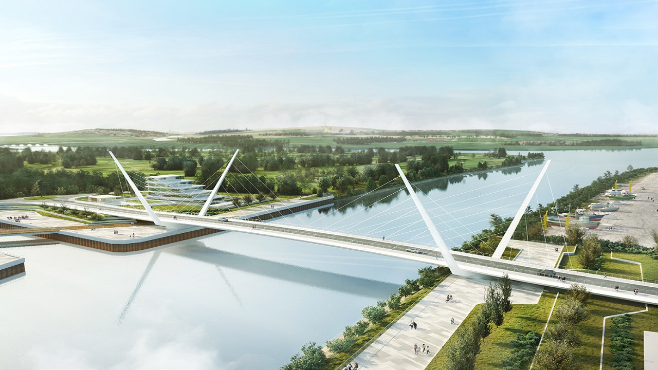 The crossing bridge will be built over River Clyde in Scotland, UK. Credit: Graham Group.