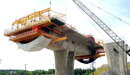 Allegheny River Bridge will be a twin-deck structure carrying six lanes United States road project pennsylvania bridge replacement