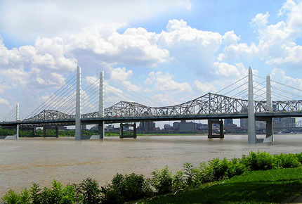 The new bridge and its counterpart in Louisville's East End will be the region's first new bridges in more than 50 years.