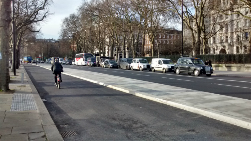 London cycle superhighway, Blackfriars, Embankment