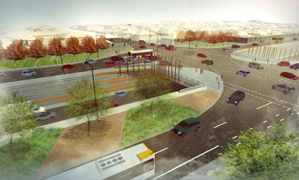 Artist's rendering of the Torrens Road to River Torrens (T2T) upgrade project.