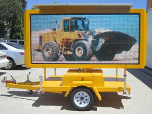 Solar Powered Full Colour Transportable Variable Message Sign (TVMS)