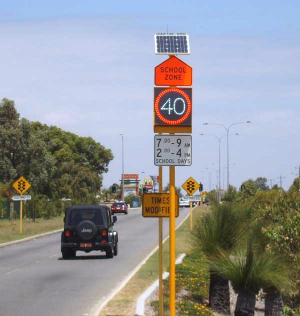Variable speed limit signs